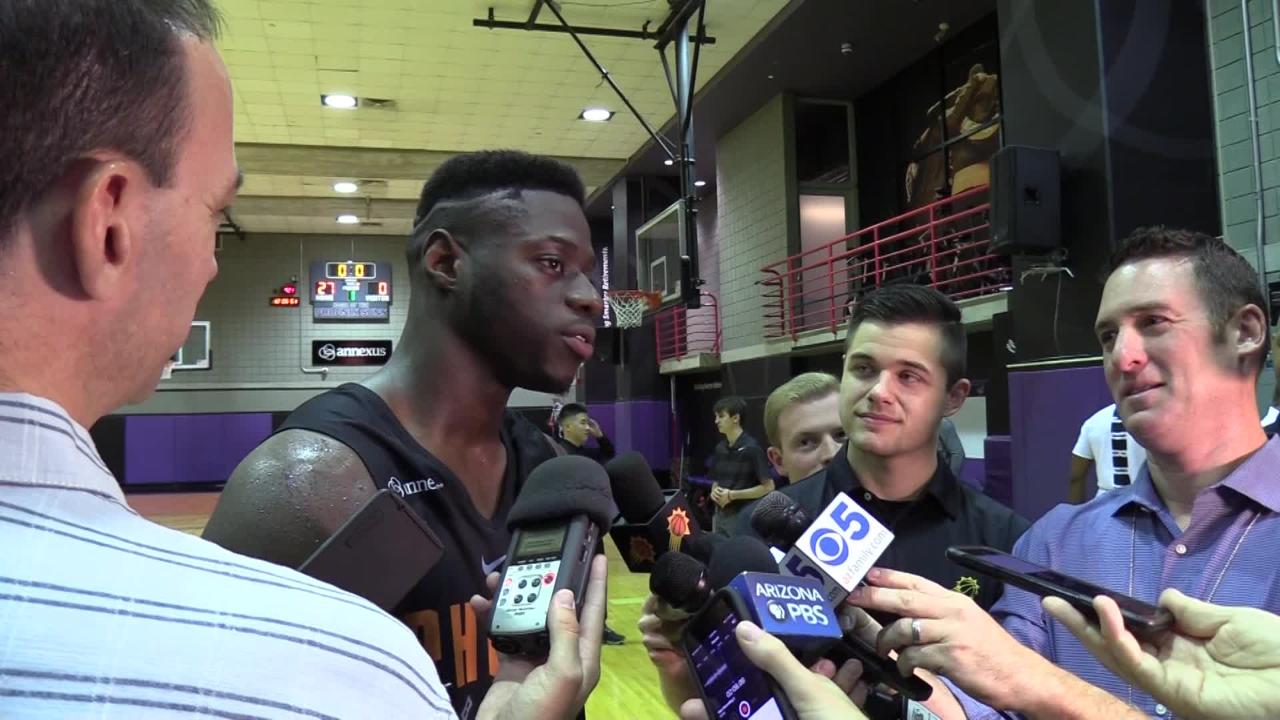 Arizona guard Rawle Alkins during the Phoenix Suns pre-draft workout on June 1, 2018 at Talking Stick Resort Arena in Phoenix, Ariz.