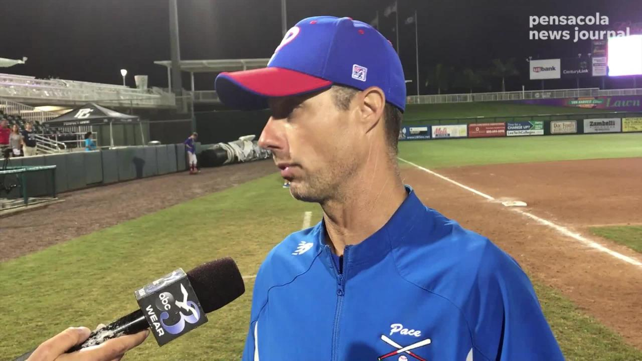 Pace head coach Jason McBride talked to the media after the Patriots' 3-1 state final loss to Venice, addressing a controversial ruling from the FHSAA.