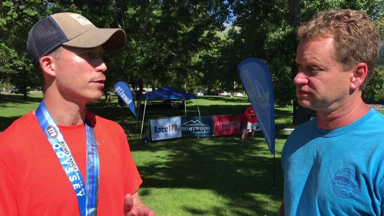 Jeff Limpert of Fueled by Isagenix, the winning team in the Reno Tahoe Odyssey, talks to the RGJ about the race.