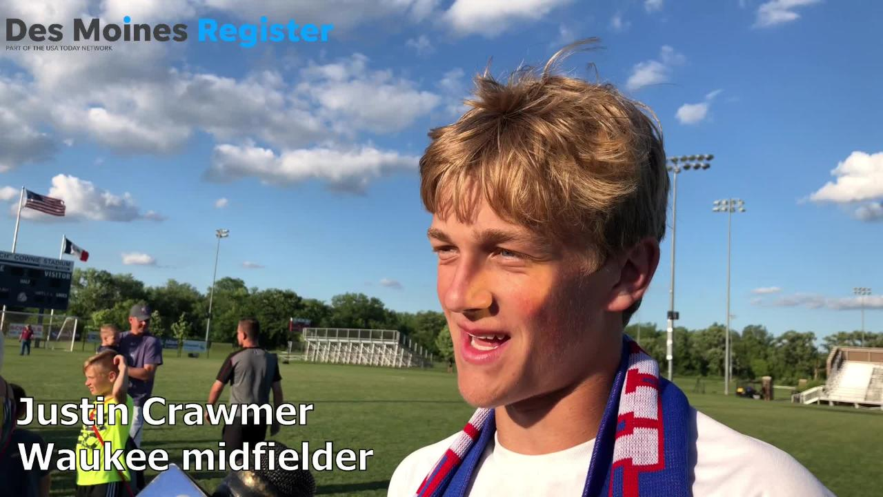 Justin Crawmer, a junior midfielder for the Waukee boys' soccer team, discusses the team's first state championship since 2001.