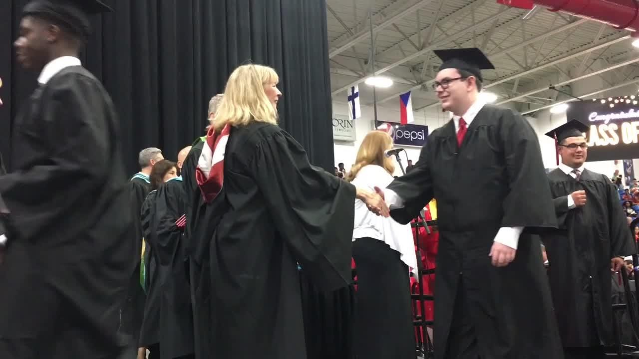 Another crop of Churchill graduates hit the streets after commencement.
