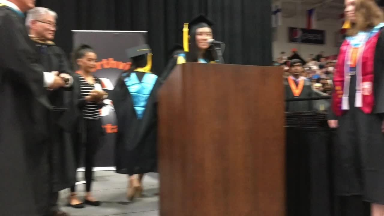 Northville High School graduated nearly 600 seniors on Sunday night.