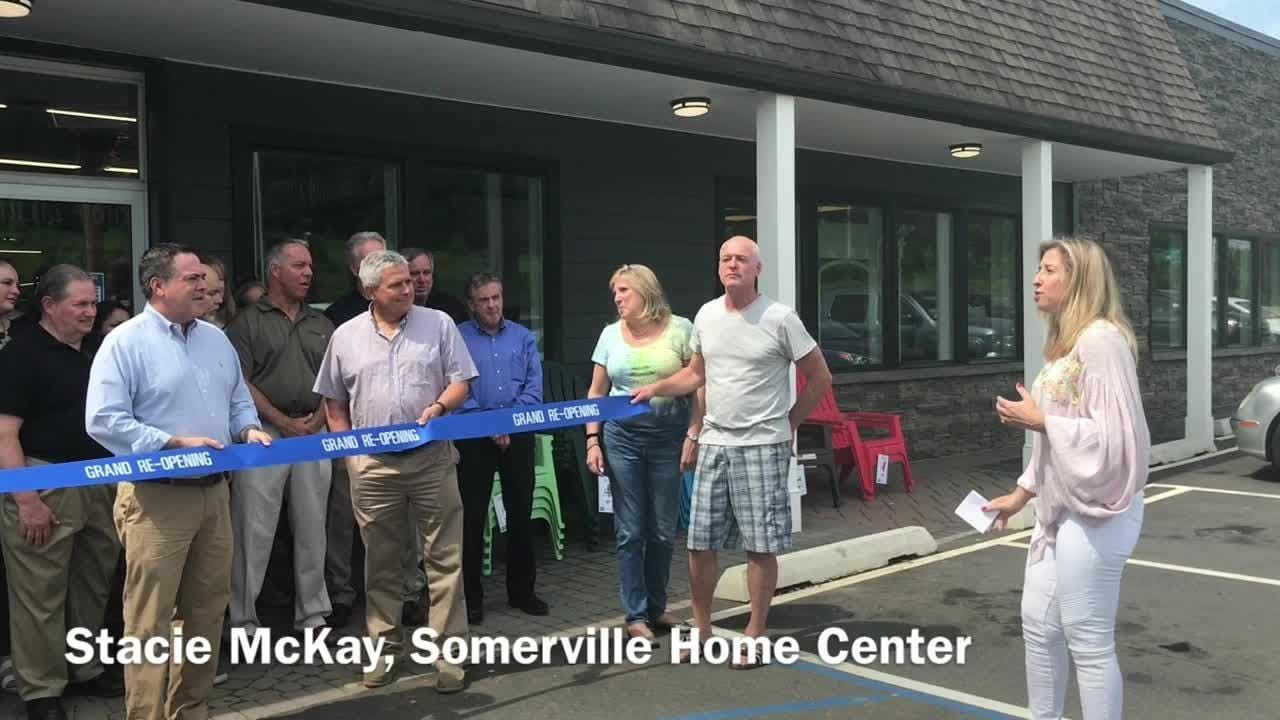Friends, family, customers, vendors, staff and dignitaries gathered June 2 to celebrate Somerville Home Center's rebranding during an annual Deck Expo