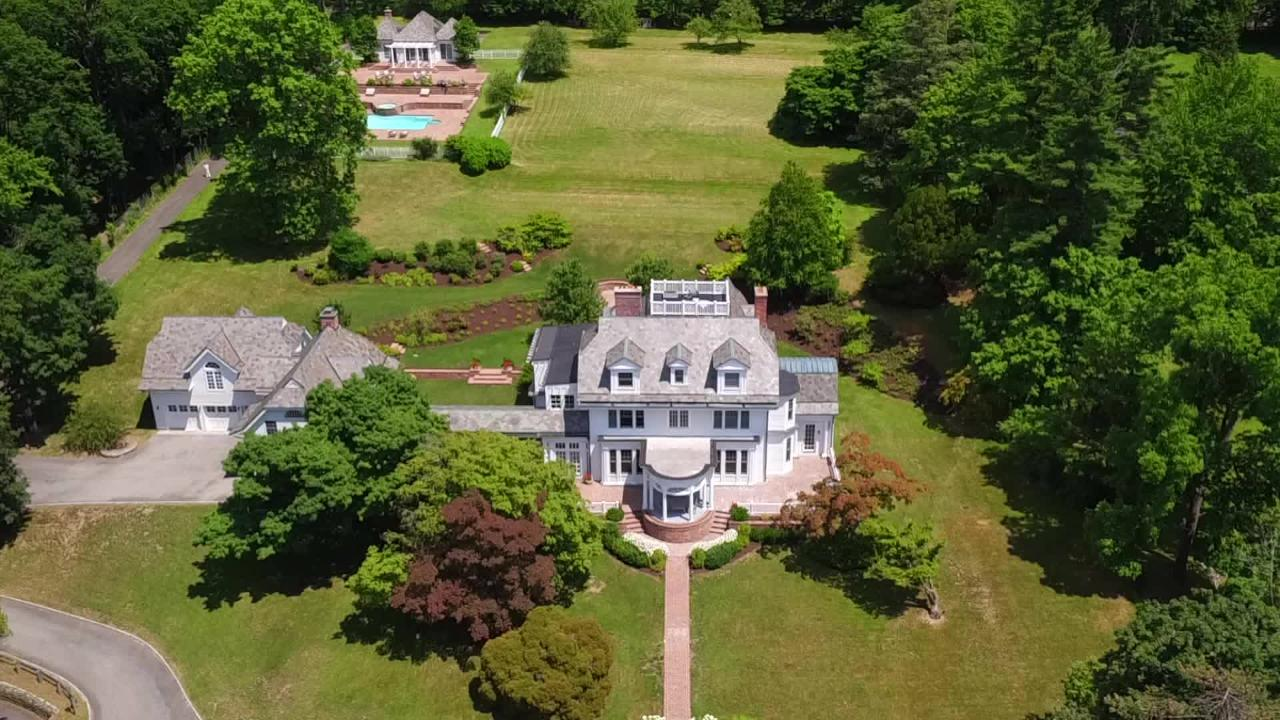 This Gothic-style Hudson River estate at 366 Scarborugh Road in Briarcliff Manor will go up for auction, June 27, 2018