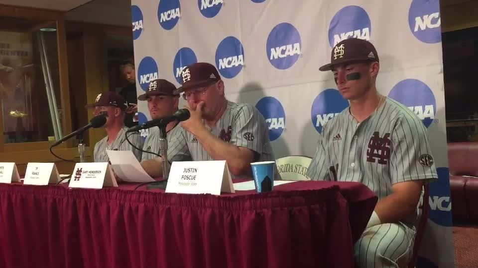 Mississippi State coach Gary Henderson talks about the Bulldogs' winning the regional championship game against Oklahoma.
