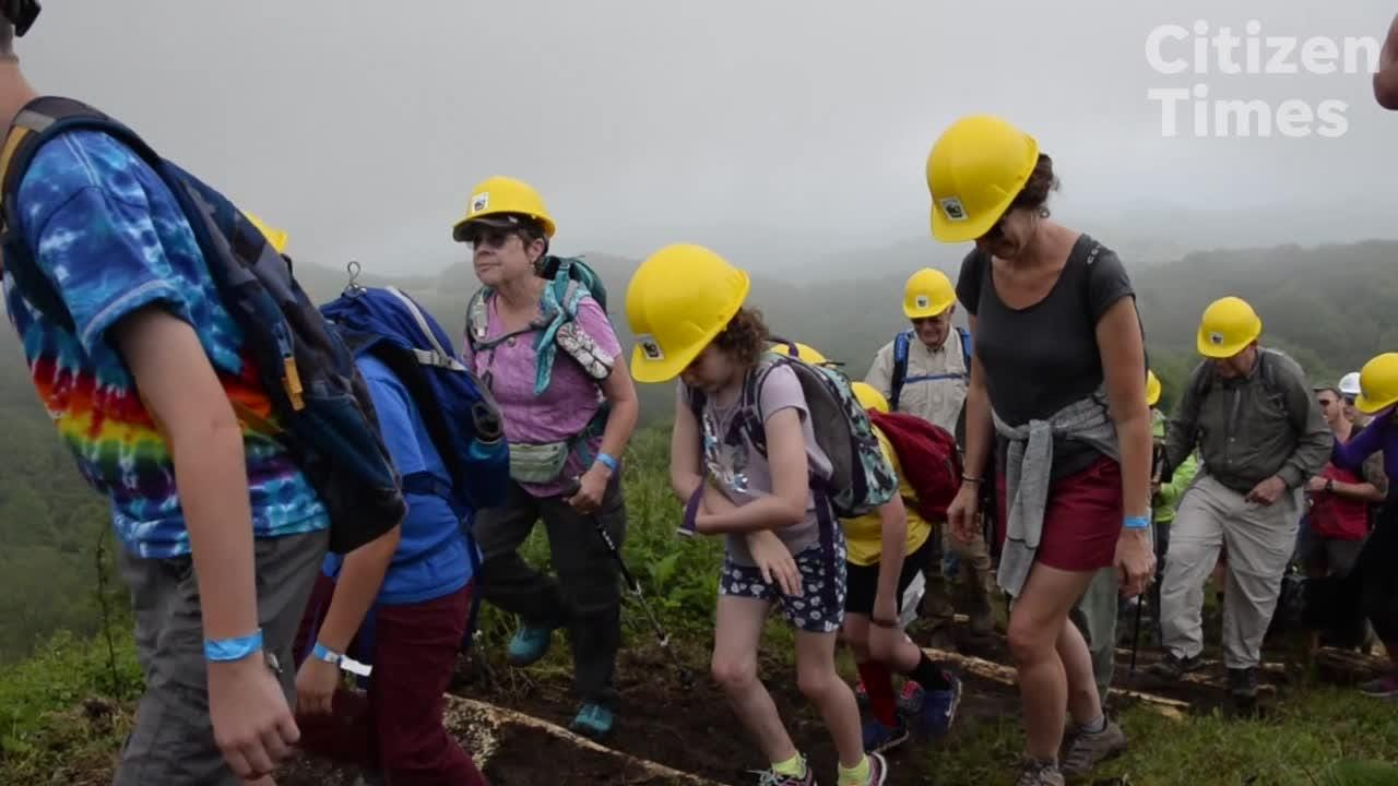 Volunteers work to restore areas of Max Patch on National Trails Day