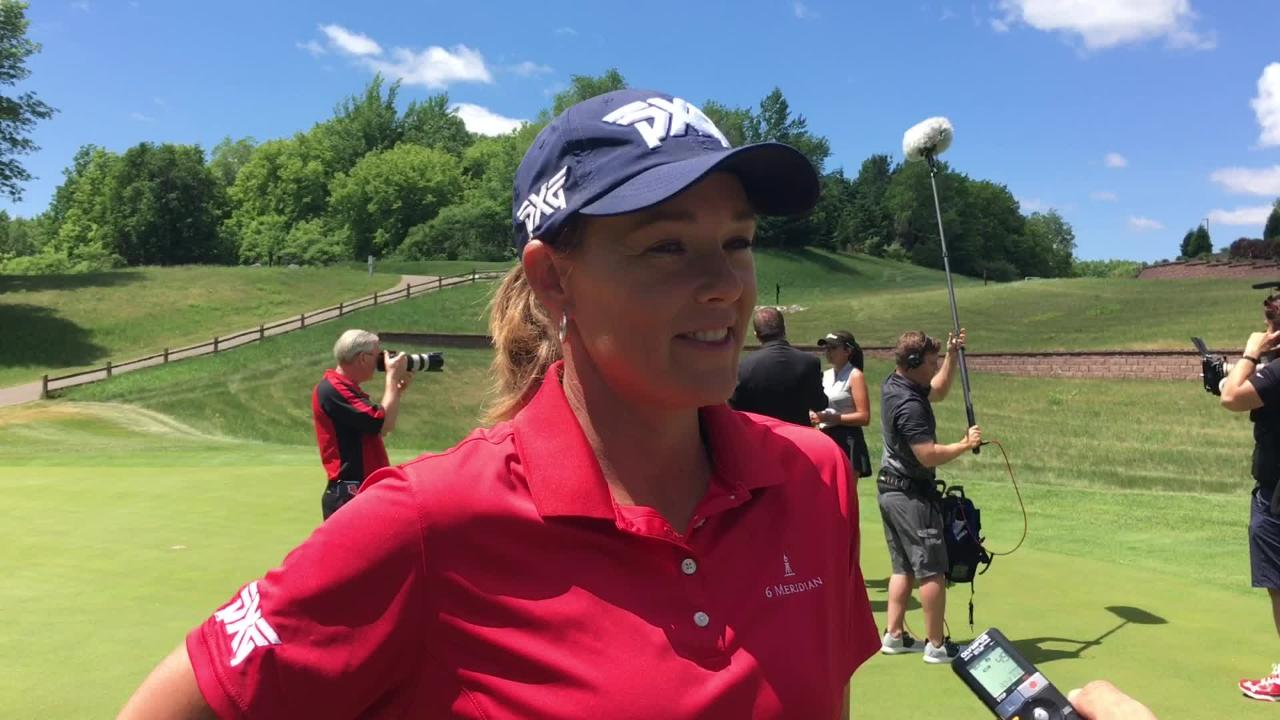 Katherine Kirk won the Thornberry Creek LPGA Classic during her first visit to Green Bay. Here are her impressions of Titletown. (June 5, 2018)
