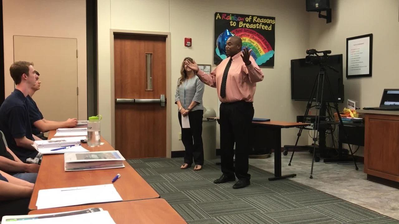 Mayor Anthony Williams addresses Abilene Academy