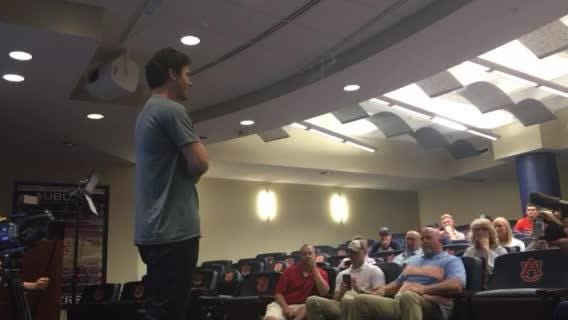 Detroit Tigers No. 1 draft pick Casey Mize talks about his time at Auburn on Tuesday, June 5, 2018.