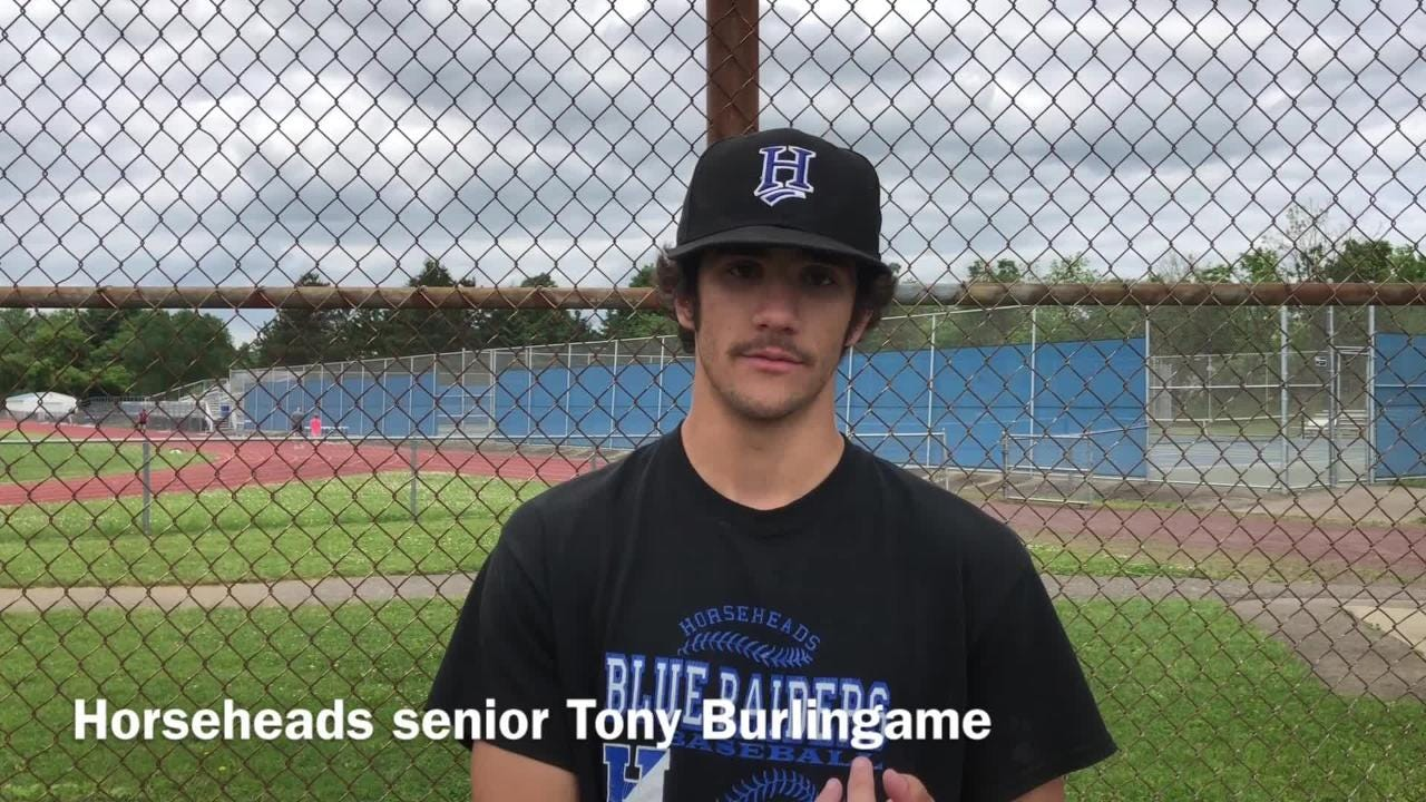 The Horseheads baseball team talks about facing Massapequa in a Class AA state semifinal during practice June 5 at Horseheads High School.