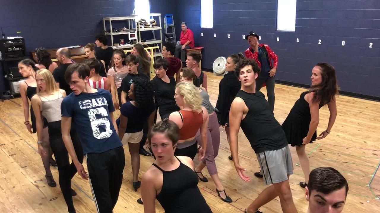 """The cast works through early rehearsals of """"Razzle Dazzle"""" from The Naples Players' production of  """"Chicago"""" opening June 28, 2018."""