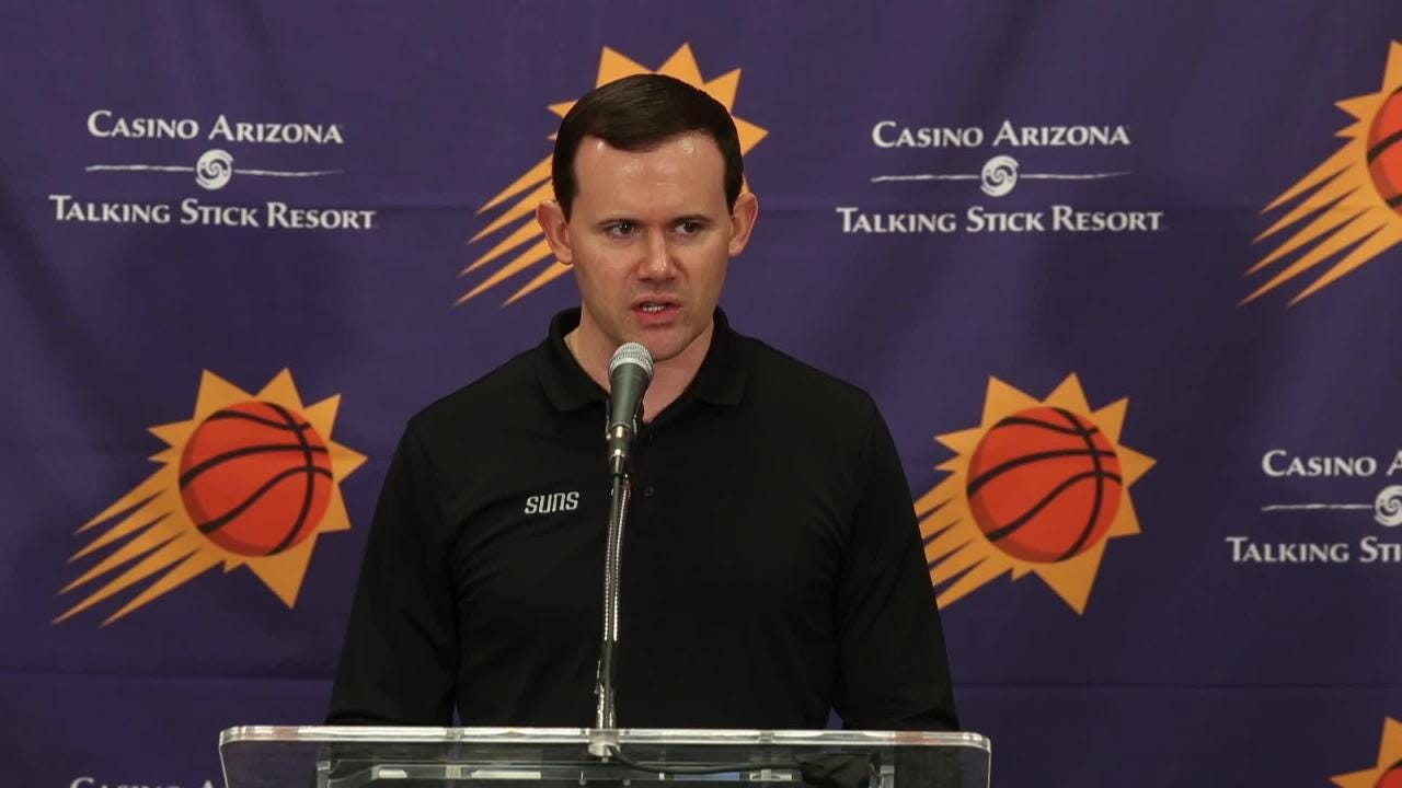 GM Ryan McDonough answers questions about Deandre Ayton after Ayton's workout with the Suns.