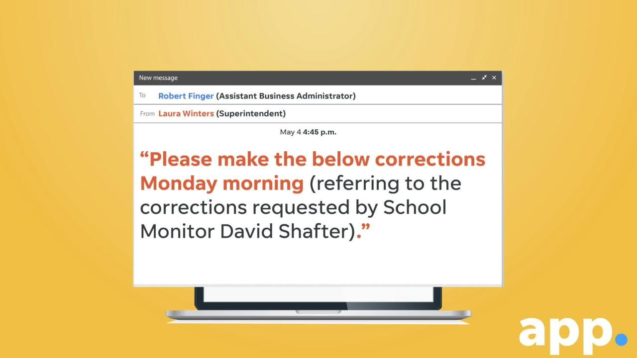 A glimpse at the series of emails between Lakewood school leaders that earned a rebuke from the state.