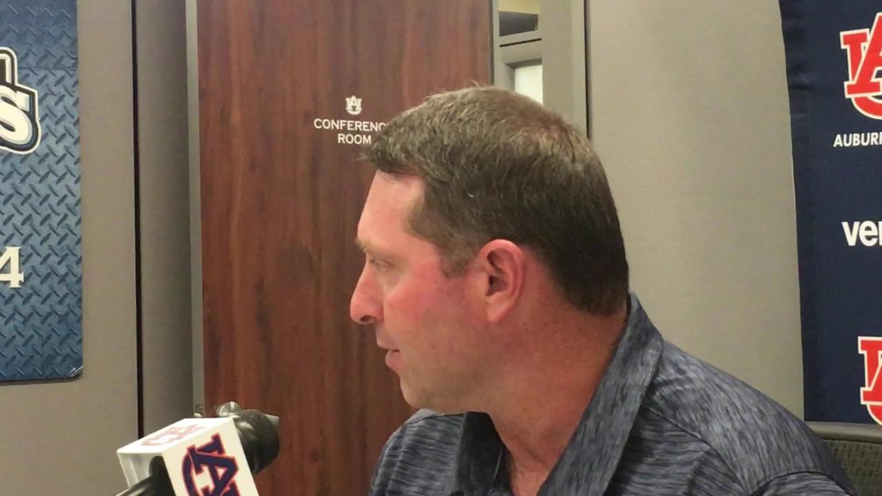 Auburn head coach Butch Thompson previews Gainesville Super Regional