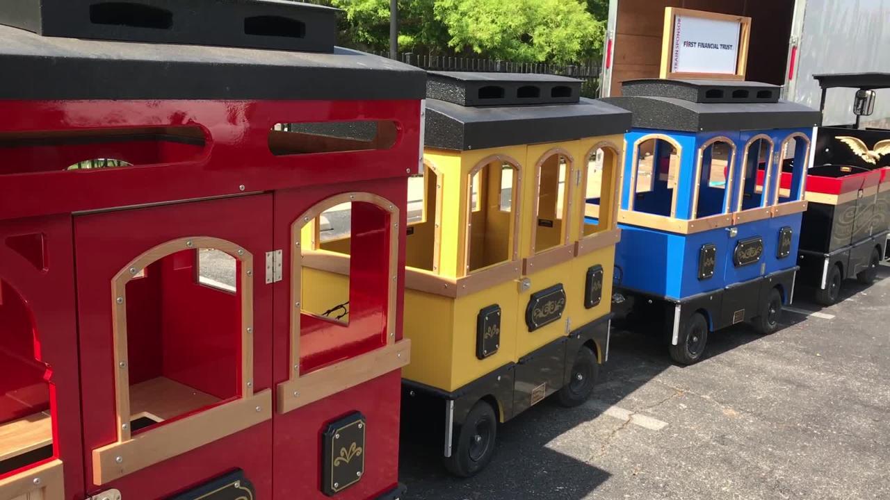 The Children's Art & Literacy Festival shows off its new train.