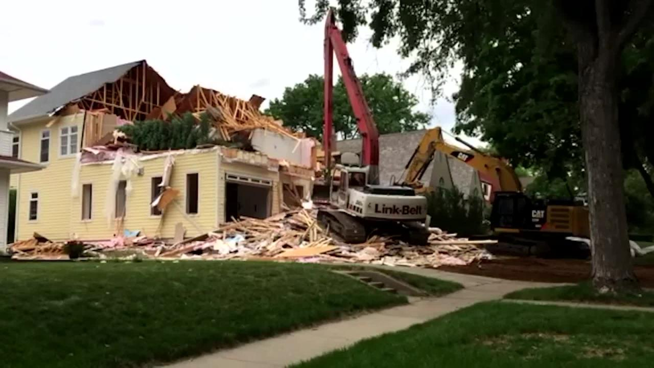 A McKennan Park home that has been at the center of a dispute for three years was demolished on Thursday morning.