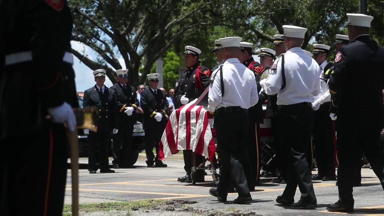 Michael Camelo Jr., the Cape Coral  firefighter and engineer who died suddenly last week, was honored at St. Andrew Catholic Church on June 7, 2018.