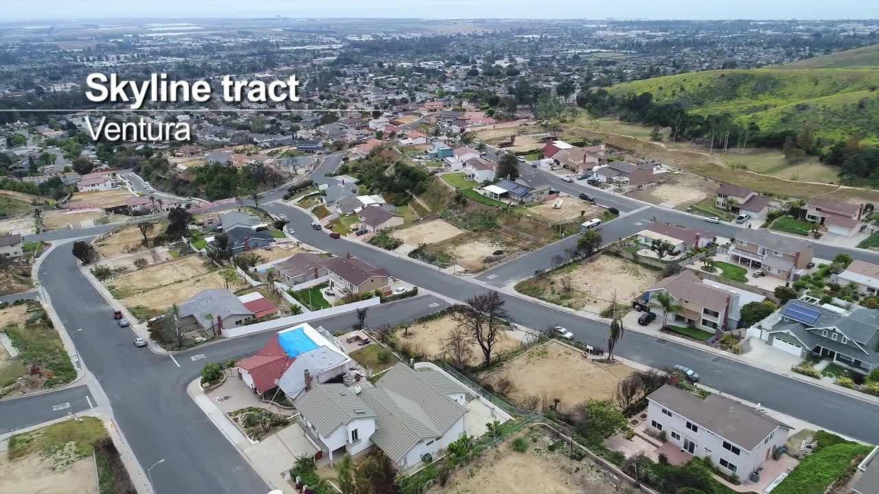 An aerial look at Thomas Fire burn areas