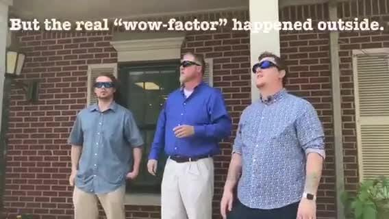 Three men tested out EnChroma lenses at the Vision Center in Canton, seeing a full spectrum of color for the first time