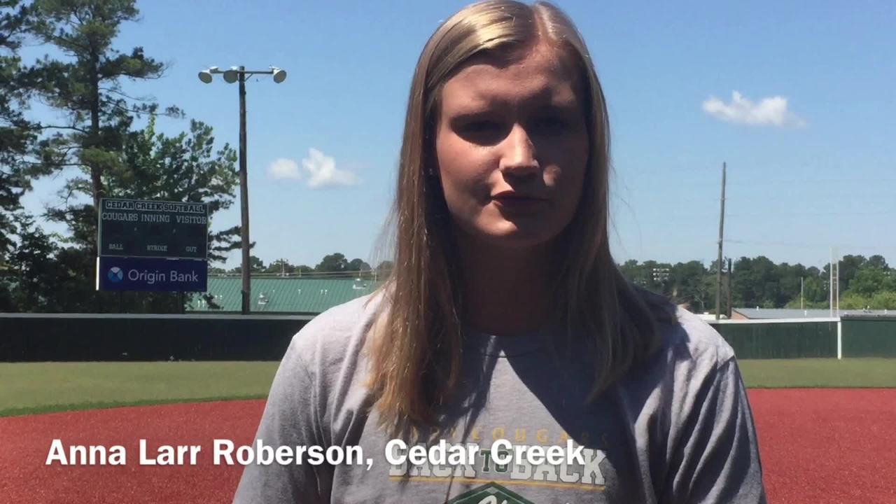 Cedar Creek junior Anna Larr Roberson details how she balances playing basketball and softball.