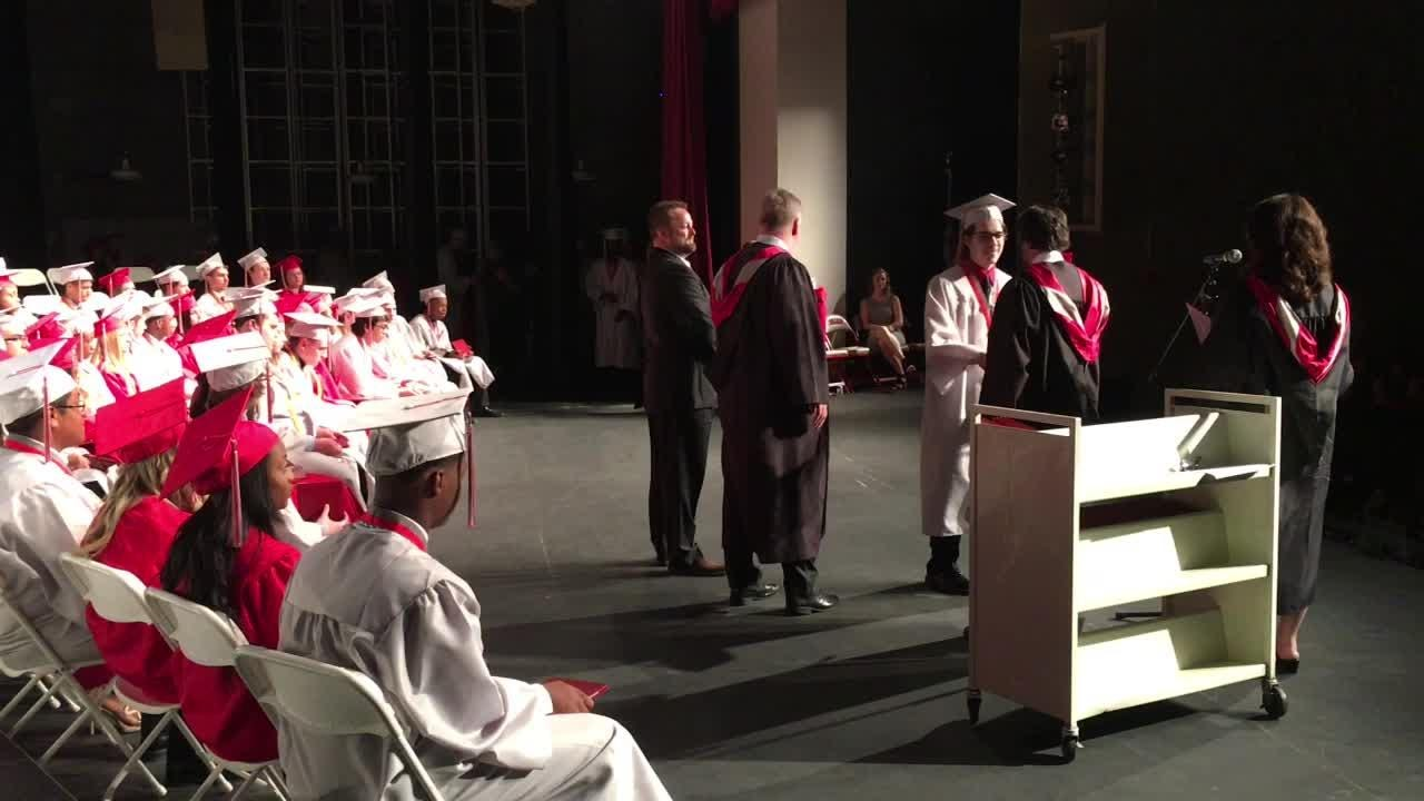 Graduates of Clarenceville High School get their diplomas and move on to the next chapter in their lives.