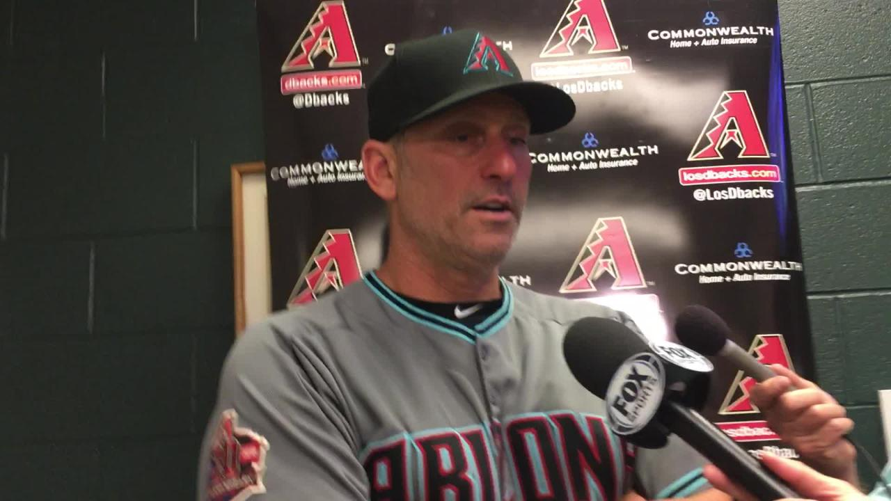 Diamondbacks manager Torey Lovullo talks about his team's 9-4 win over the Rockies, including Paul Goldschmidt's two home runs.