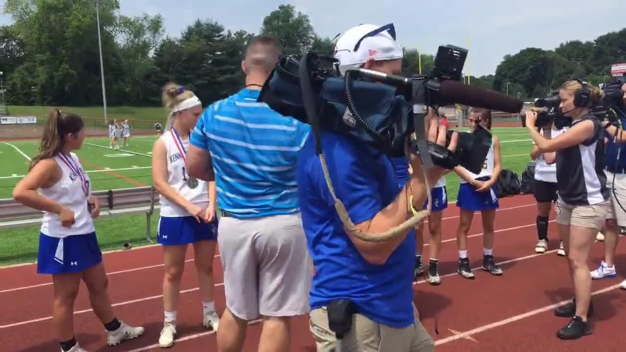 Watch: Kennard-Dale girls' lacrosse team accepts state silver medals