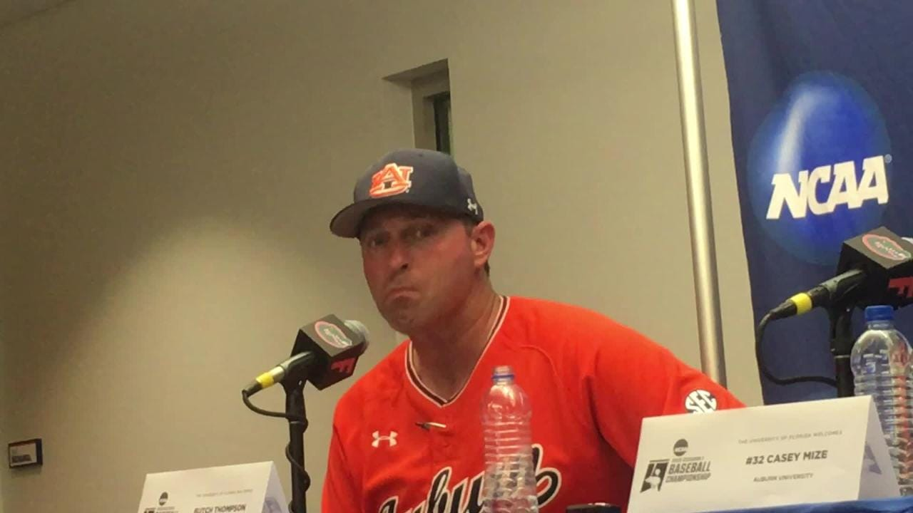 Auburn head coach Butch Thompson after loss to Florida in 2018 Gainesville Super Regional.