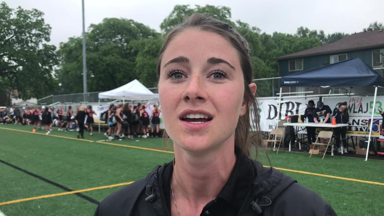 Watch Brighton coach Ashton Peters and senior Jessica Daniels reflect on its season following a loss to Rockford in the Division 1 state title game.