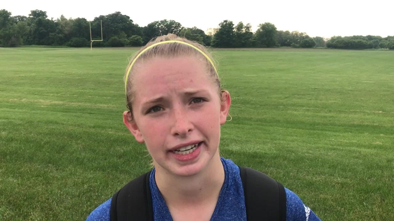 Trudy Quidzinski helped lead Green Bay Notre Dame to a 2-1 win over Plymouth in a WIAA Division 3 sectional final on Saturday