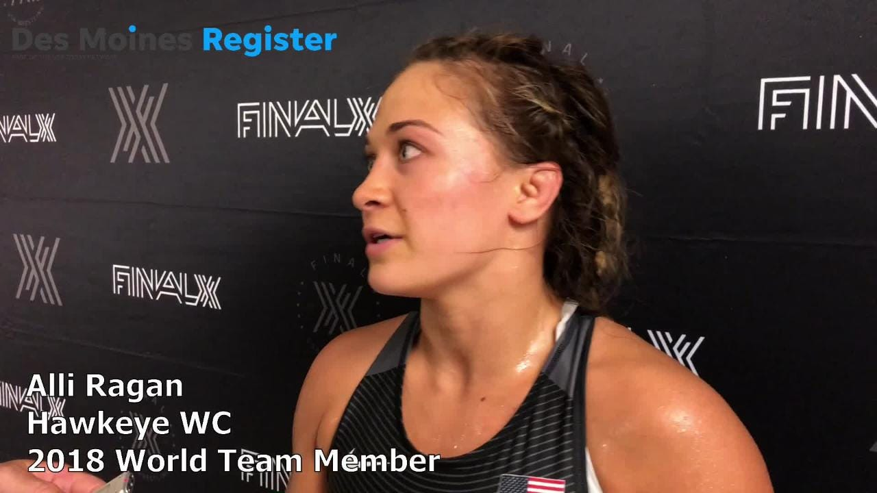 Alli Ragan, a member of the Hawkeye Wrestling Club, qualified for the U.S. women's freestyle world team on Saturday night in Lincoln.