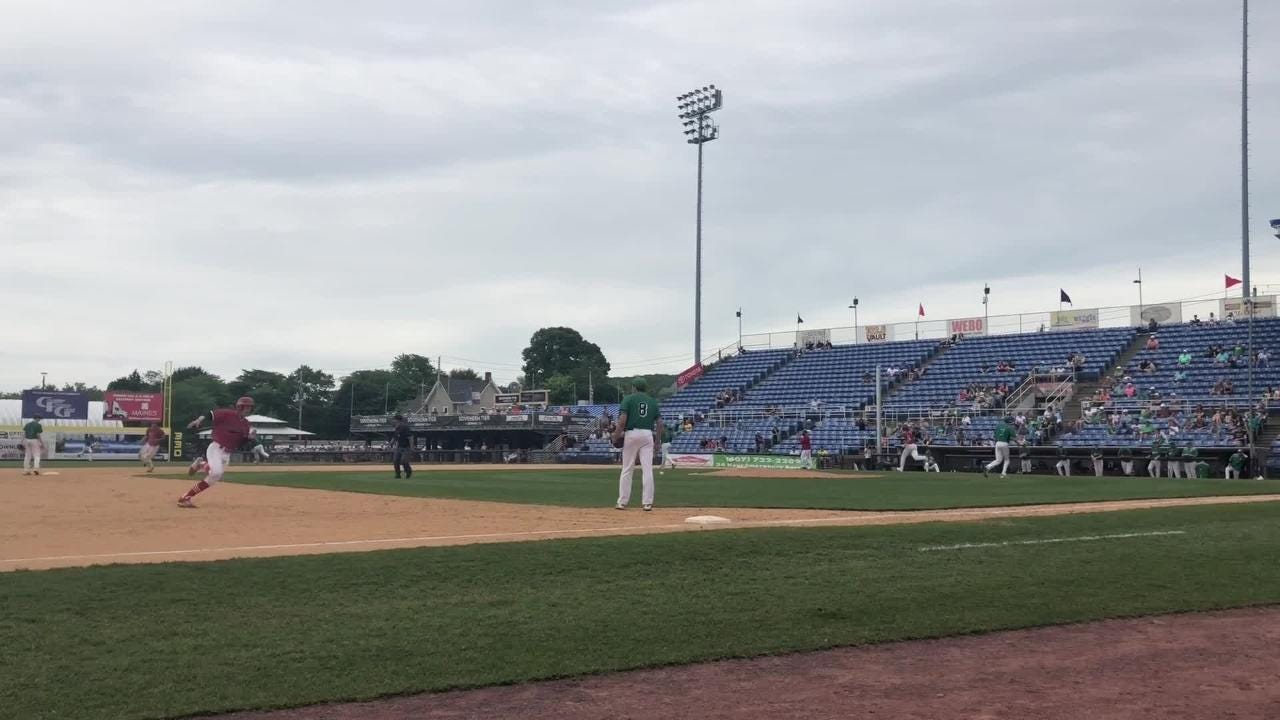 Center Moriches scored seven in the sixth to rally for a 10-7 win over Seton Catholic Central in the Class B state final June 9 at NYSEG Stadium.