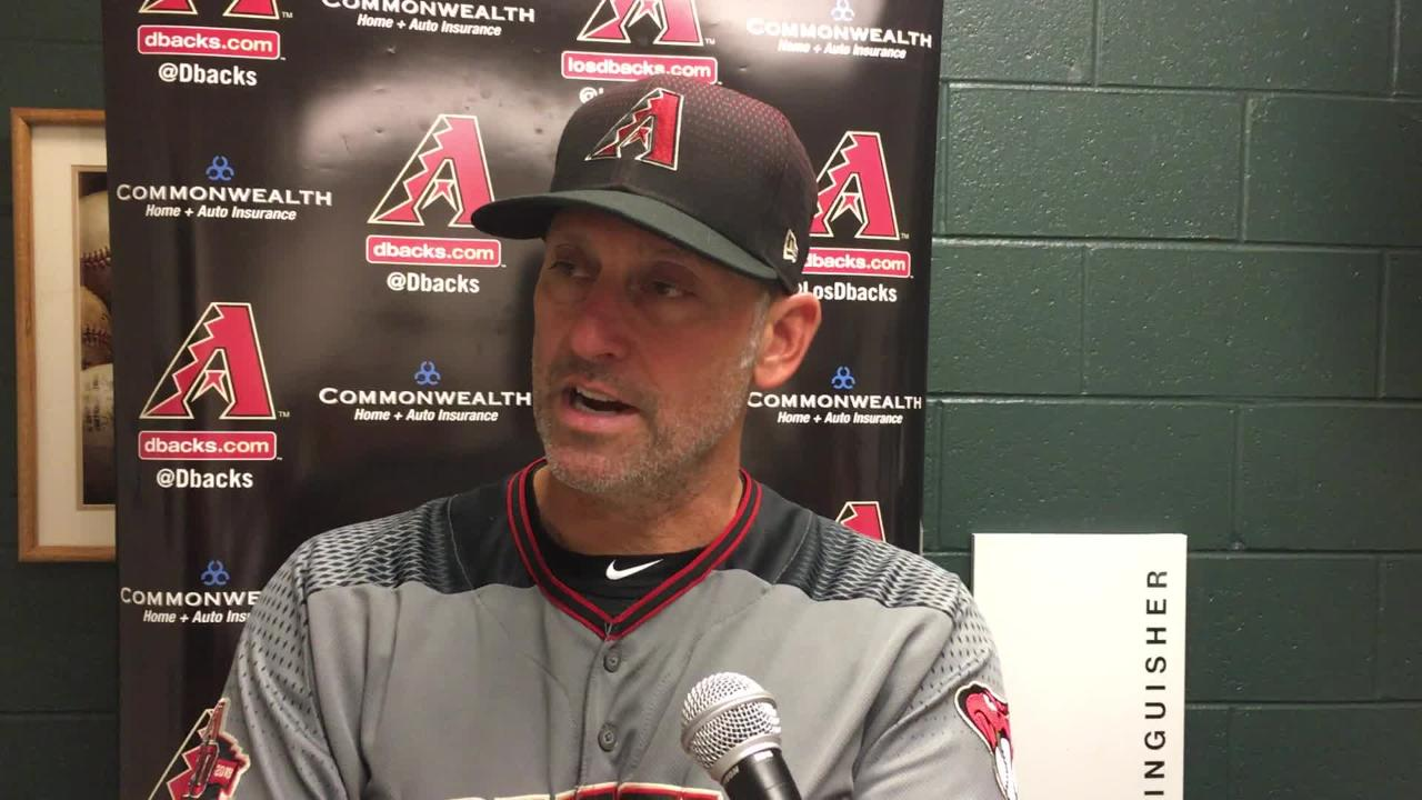 Diamondbacks manager Torey Lovullo talks about his team's six-run eighth inning against the Rockies on Saturday night at Coors Field.