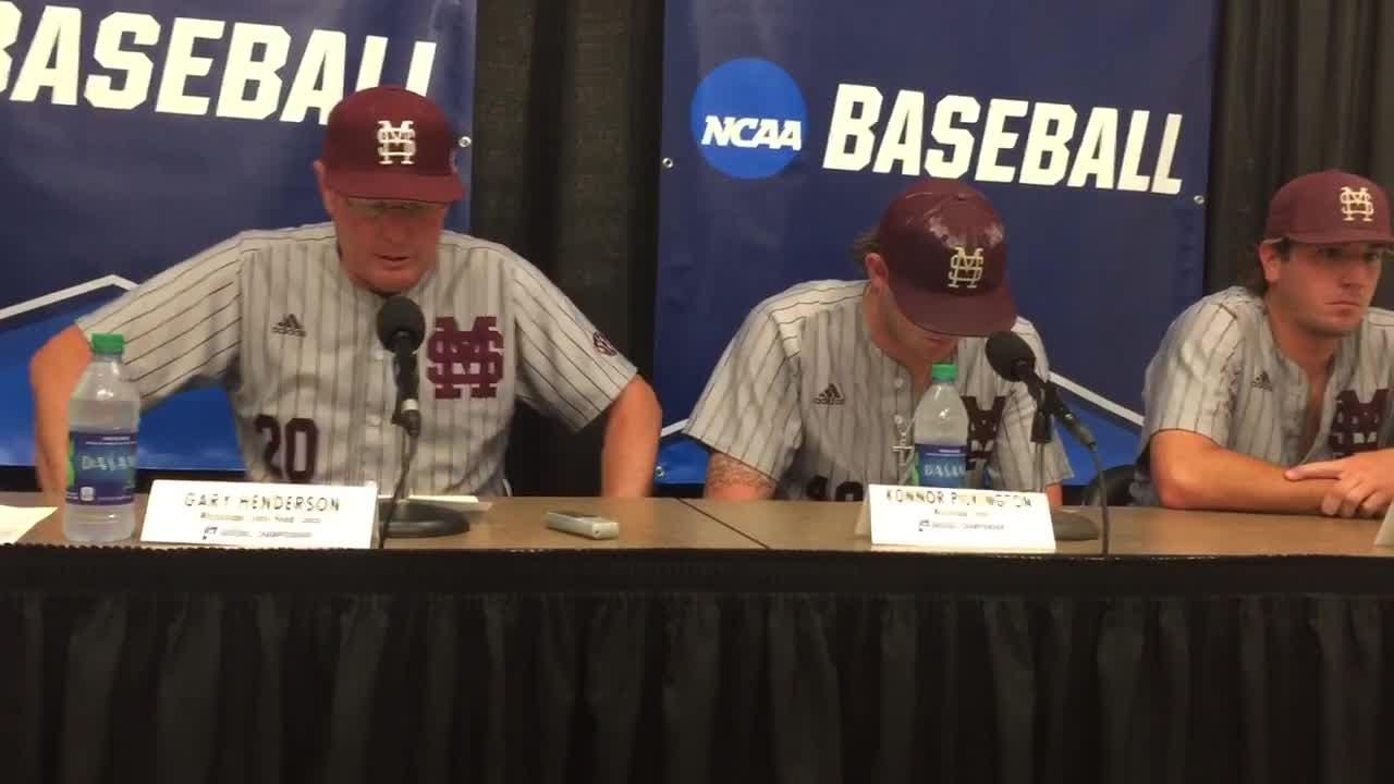 Mississippi State coach Gary Henderson talks about the Bulldogs' 4-3 loss to Vanderbilt in game 2 of the super regional