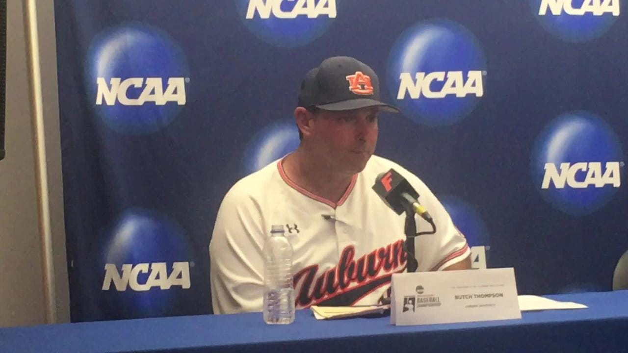 Auburn post-game media conference after win vs. Florida in Gainesville Super Regional.