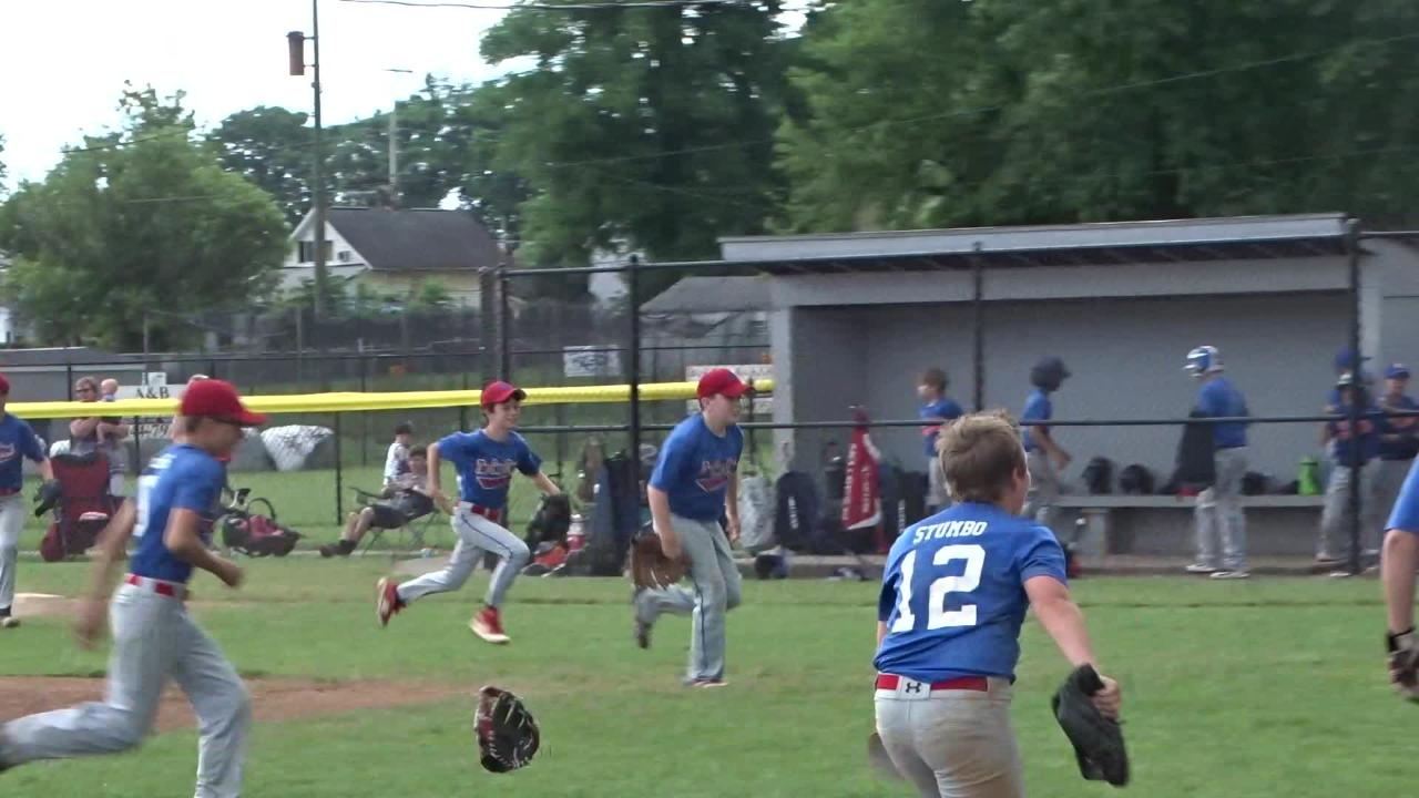 Licking Valley's The Gun Depot edged league foe Wright Brothers 9-7 in seven innings Sunday to advance to the Varsity Division quarterfinals.