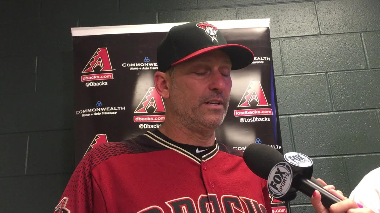 Diamondbacks manager Torey Lovullo talks about Zack Godley's performance in a 8-3 win over the Rockies on Sunday.