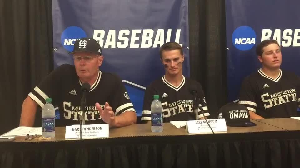 Mississippi State coach Gary Henderson talks about the Bulldogs' 10-6 win against Vanderbilt in game 3 of the super regional.