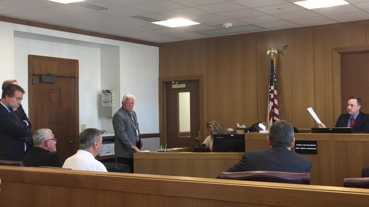 Former UW-Oshkosh Chancellor Richard Wells and former Vice Chancellor Thomas Sonnleitner pleaded not guilty Monday in Winnebago County Circuit Court.