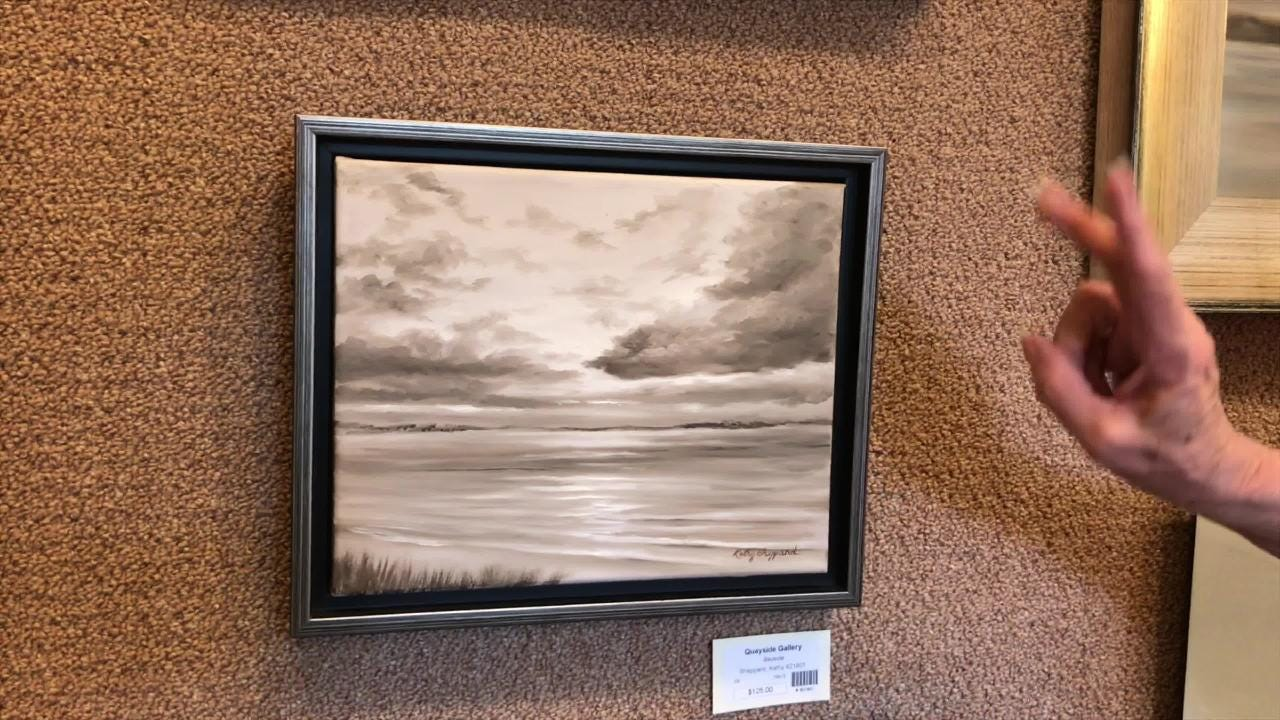 Kathy Sheppard has been exhibiting her art at Quayside Art Gallery for 40 years and has a featured exhibit at the gallery currently running