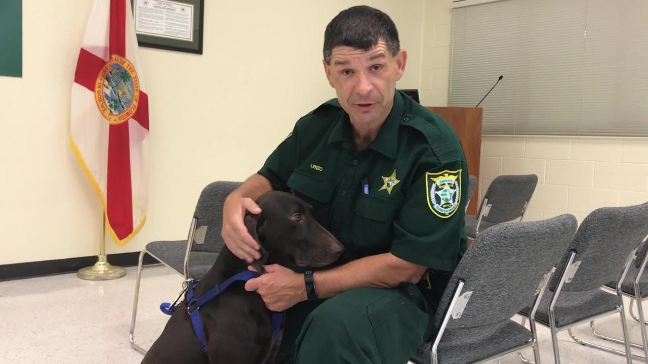 Kilo is the Santa Rosa County Jail's first contraband-detecting dog.