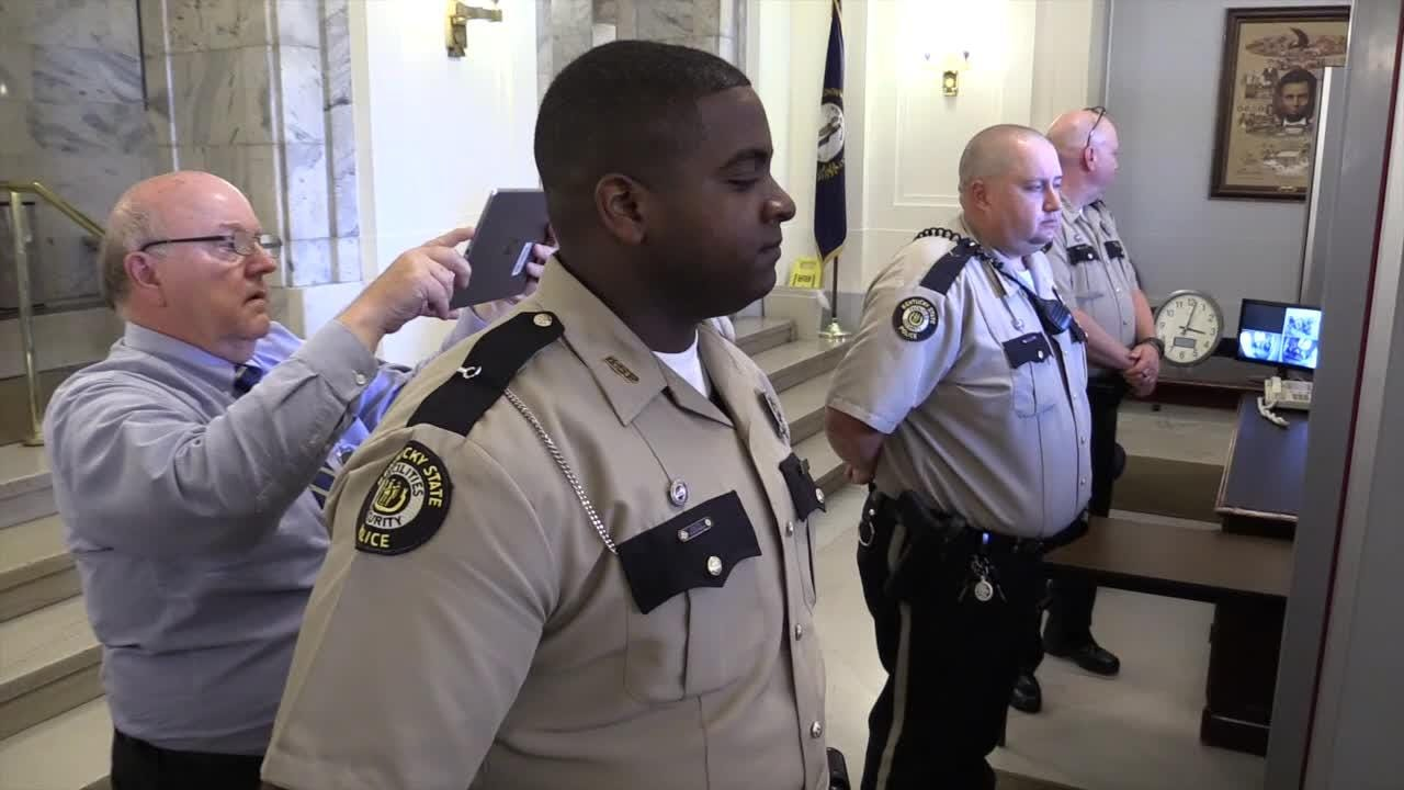 The Kentucky Poor People's Campaign returned to Frankfort after being denied access to the Capitol Building only to be denied a second time Monday.