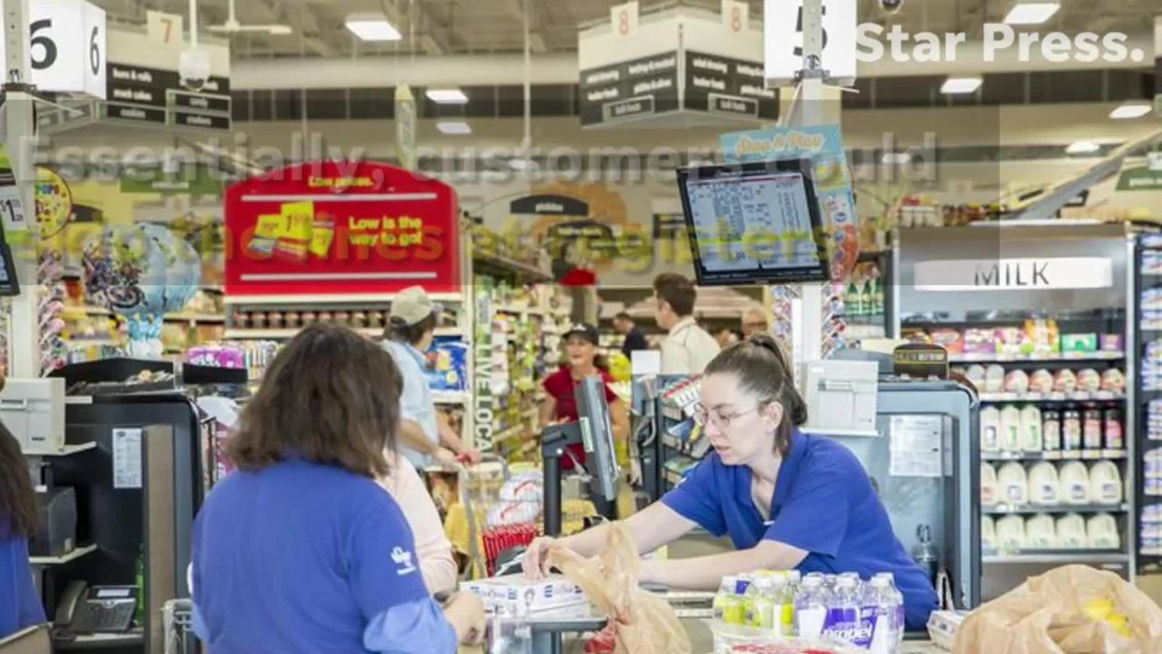 Customers can essentially skip the lines at registers.