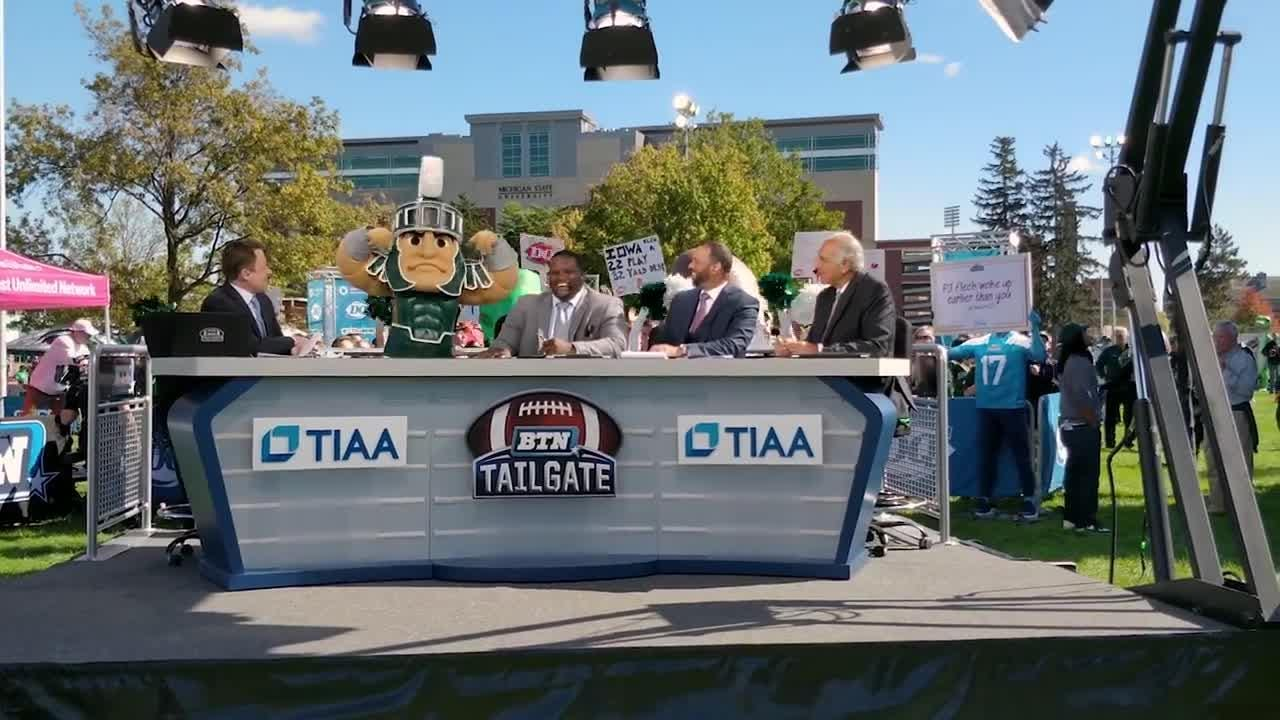 Nikki Niemiec shared this video on Facebook revealing she was behind the Sparty costume.