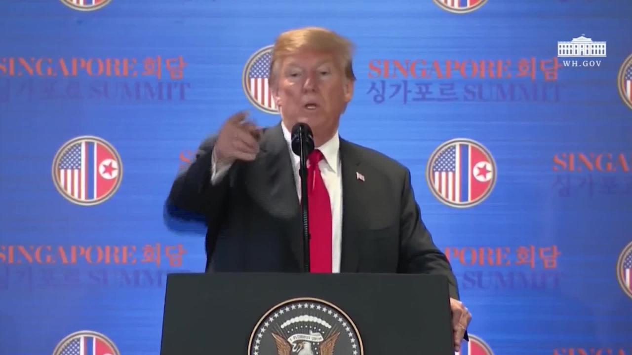 Donald Trump dijo que las sanciones económicas a Corea del Norte seguirán mientras el régimen no se deshaga de su arsenal nuclear de manera efectiva.