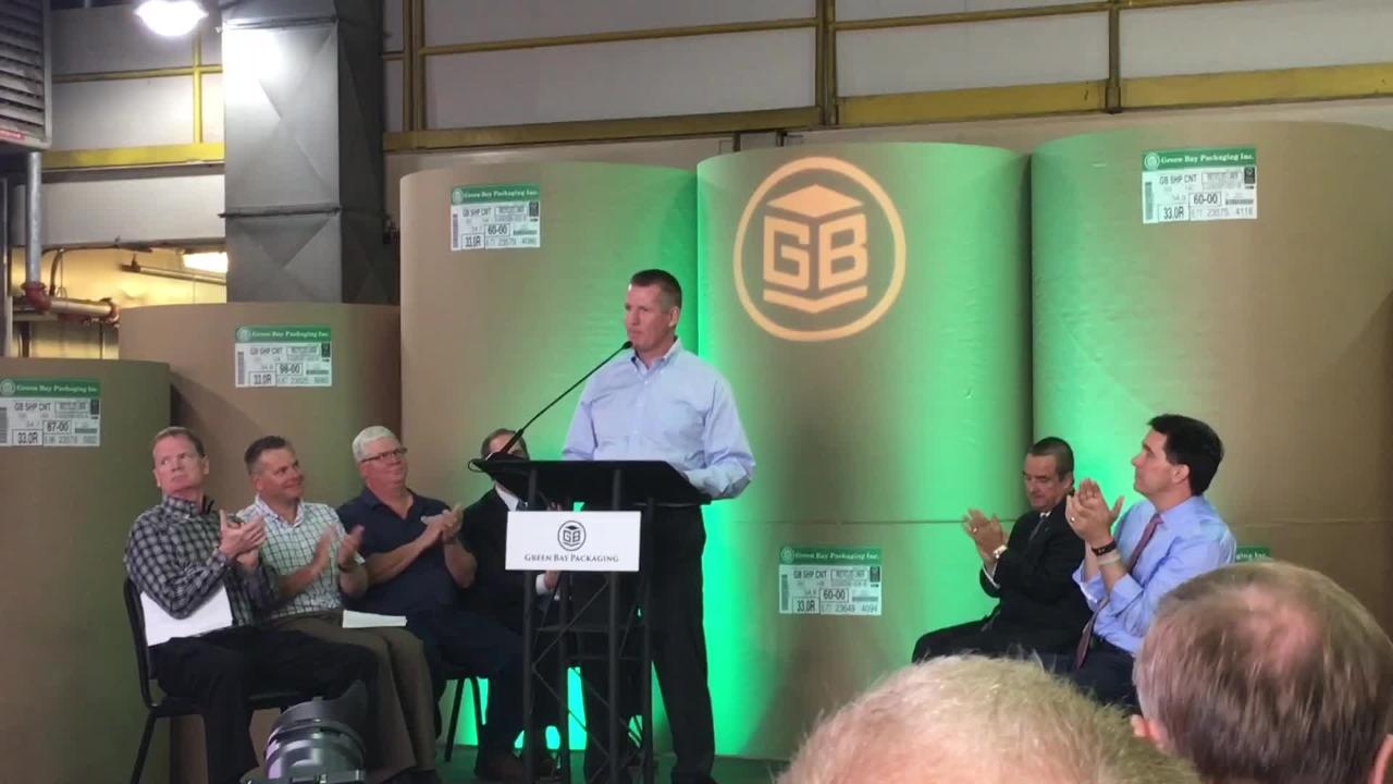 Green Bay Packaging CEO Will Kress talks about the decision to invest more than $500 million in building a new mill.