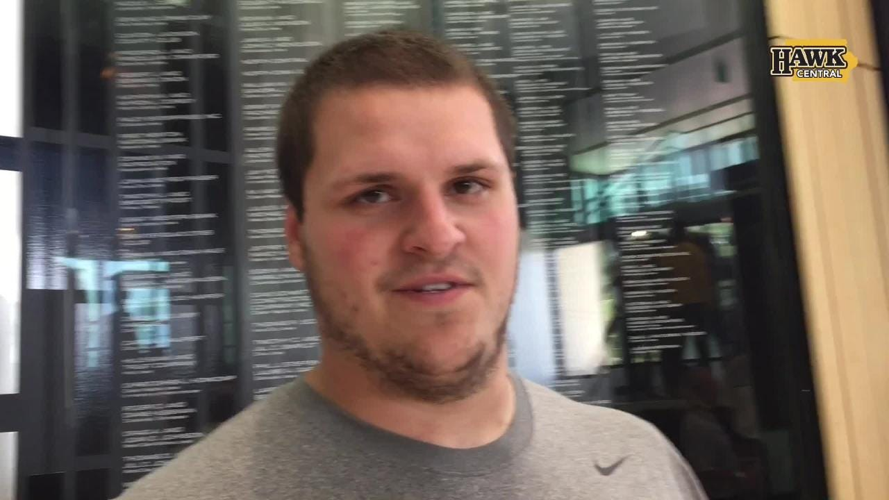 Iowa offensive lineman Keegan Render discusses being one of a small group of (11) scholarship seniors on the 2018 Hawkeye football team.