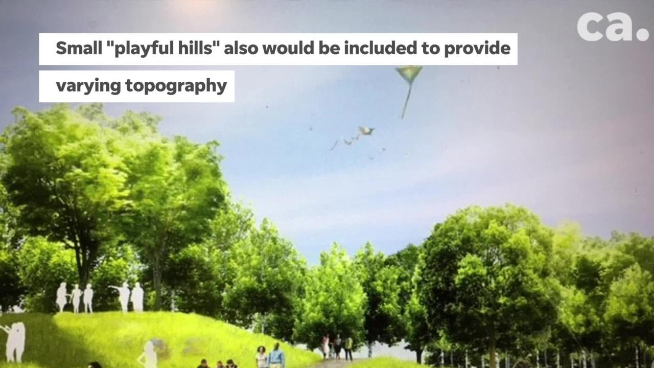 Long plagued by an open, skillet-flat terrain that sizzles in the summer sun, Tom Lee Park will be transformed by the addition of shade treesand small hills