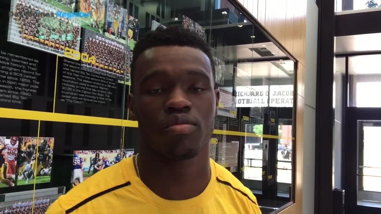 Iowa CB Michael Ojemudia embraces the competition the new defensive backs will bring.