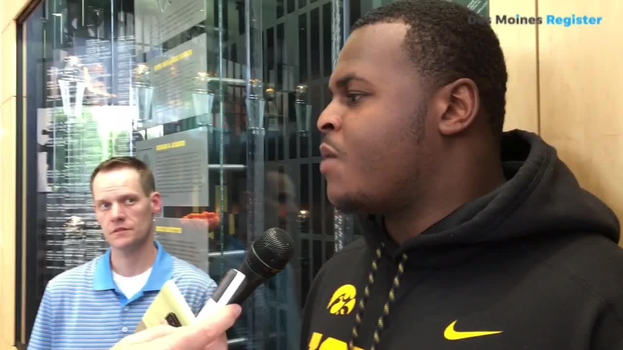 Iowa DT Cedrick Lattimore discusses offseason and the defensive line rotations.
